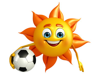 Sun Character With football