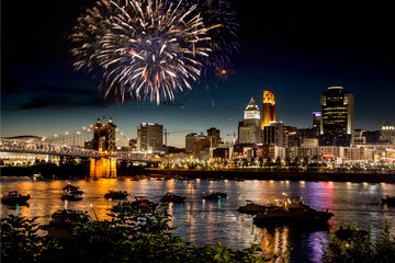 Fireworks Over Skyline