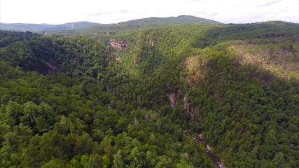 Aerial drone video Smokey Mountains