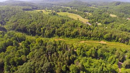 Smokey Mountains aerial drone video
