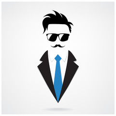 Hipster character for businessman