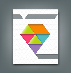 Cover report colorful origami paper triangle design