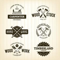 Vintage Carpentry Emblems