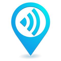réseau sur symbole localisation bleu
