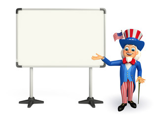 Uncle Sam with display board