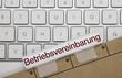 Leinwanddruck Bild - Betriebsvereinbarung. Tastatur