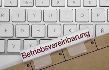 Betriebsvereinbarung. Tastatur