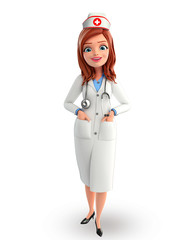 Nurse Character with standing