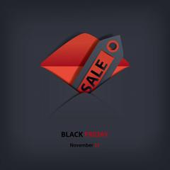 Black Friday sales invitation card