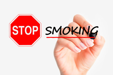 stop or quit smoking concept