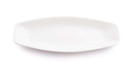 White dish for fish isolated.