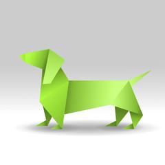 jamnik origami wektor