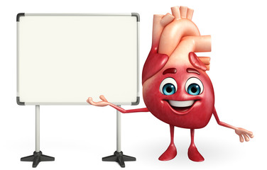Heart character with display board