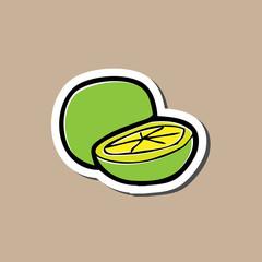 Lemon lime sticker drawing cartoon