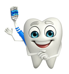 Toothbrush Character is happy
