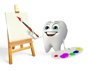 Teeth character with Color plate