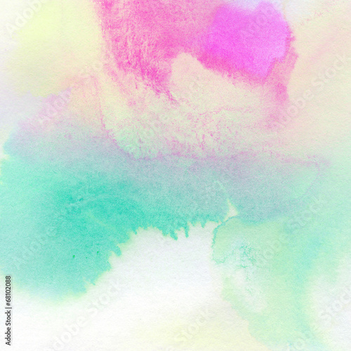 Abstract colorful watercolor painted background - 68102088