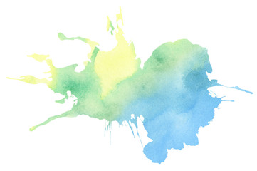 Colorful watercolor splatter