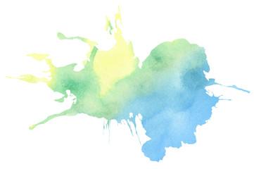 Colorful watercolor splatter
