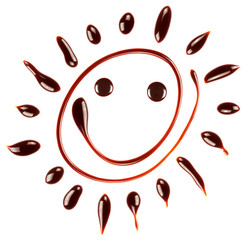 Smiling chocolate sun