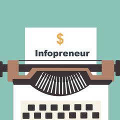 typewriter with Infopreneur