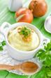 Potato puree with fried onion