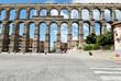 ancient Aqueduct on Plaza del Azoguejo in Segovia