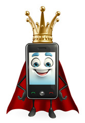 SuperMobile character with crown