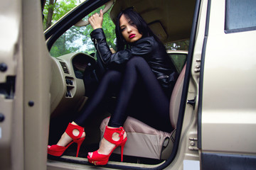 girl behind the wheel