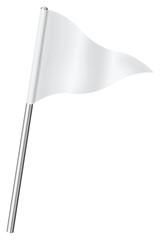 fanion de signalisation blanc