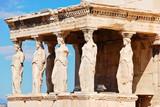Fototapeta statues of Porch of the karyatides, Athens