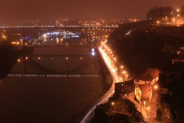 Porto bridge in the night