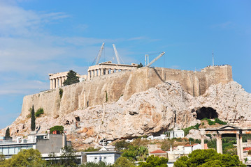 reconstruction of temples on Acropolis hill, Athens