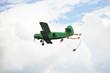 parachuting jump from small green aircraft