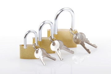 Lucchetti con chiavi