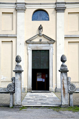 italy  church  varese  the old door entrance