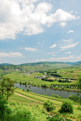 view of Moselle valley and Mosel river