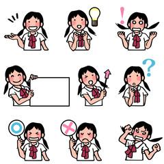 女子生徒の表情