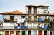 facade old urban house in Porto city