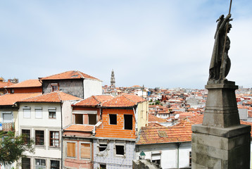 view of old houses in Porto city