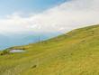 green slope of Monte Baldo mountains, Italy