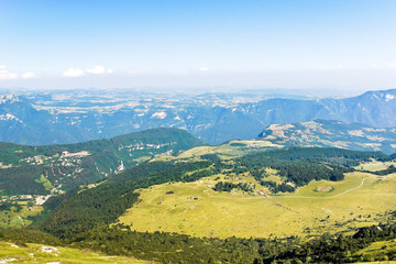 above view of Monte Baldo mountains, Italy