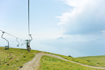 cableway from Garda Lake to Monte Baldo, Italy