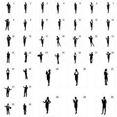 business people silhouettes,unique