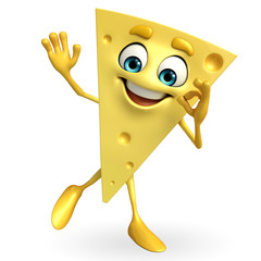 Cheese Character with best sign