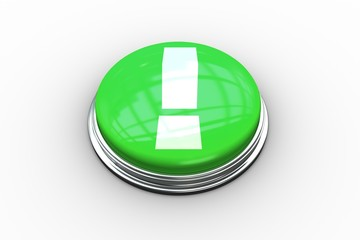 Composite image of exclamation mark graphic on button