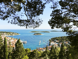 Adriatic Sea coast of Hvar island in Dalmatia