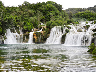 waterfall in Kornati region, Dalmatia,