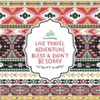 Hipster seamless colorful  tribal pattern with geometric