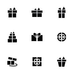 gift icons set